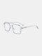 Unisex Large Full Frame Double Bridge Anti-blue Light Anti-UV Vintage Glasses - #06