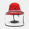 Chapeau de pêcheur anti-éclaboussures Lunettes de protection réversibles Visière pare-soleil amovible - rouge