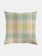Classic Plaid Pattern Linen Cushion Cover Home Sofa Art Decor Throw Pillowcase - #01