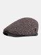 Men Peaked Cap Autumn Winter British Retro Beret Casual Forward Cap Flat Cap - Coffee