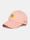Unisex Cotton Embroidery Animal Pattern Summer Casual Sunshade Fashion Baseball Hat - Pink