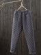 Casual Solid Color Elastic Waist Plus Size Pocket Pants for Women - Grey