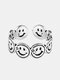 Vintage Stainless Steel Alloy Smile Personality Wild Couple Ring - 01