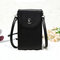 Women Leisure Crossbody  Wallet Card Holder Universal 5.5 Inches Shoulder Phone Bag  - Black