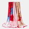 Satin Tie Dye Pattern Scarf Thin Multifunctional Headscarf Multicolor Ethnic Scarf - Red
