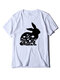 Easter Rabbits Print Short Sleeve Plus Size Casual T-shirt - White