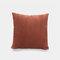 Nordic Solid Color Cord breit und schmal gestreift Flanell Kissen Schlafzimmer Sofa Autokissenbezug - rot