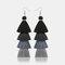 Bohemian Handmade Multi-layer Tassel Earrings Irregular Gradient Tassel Long Earrings - 4