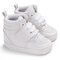 Baby Toddler Shoes Cute Comfy High Top Non Slip Soft Sport Casual Shoes - White