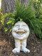 1 pieza divertida expresión Muggly's The Face estatua jardinera jardín hilo escultura decoración flor planta maceta - #05