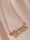 Elegant Letter Inlaid Diamond Women Necklace Twelve Constellation Pendant Necklace Jewelry Gift - Aries
