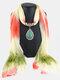 Bohemian Chiffon Gradient Scarf Necklace Drop-Shape Pendant Women Necklace - #06