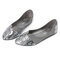 Women Casual Single Shoes Snake Skin Veins Pointed Toe Flats