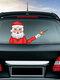 Санта-Клаус Шаблон Авто Наклейка на окно Стикер стеклоочистителя Съемные рождественские наклейки - #09