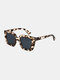 Unisex Square Full Frame Wide Frame Fashion Outdoor UV Protection Sunglasses - Tortoiseshell