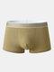 Mens Solid Color Graphene Antibacterial Underwear U Convex Boxer Briefs - Yellow