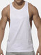 Mens Summer Breathable Solid Color Workout Tank Tops