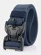 125CM Men Nylon Belt Zinc Alloy Magnetic Buckle Tactical Casual Belt - Royal Blue
