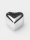 1/4/6PCS Set Stainless Steal Whisky Stones Ice Cubes Heart Shaped Reusable Whisky Beer Wine Cooler Bar Ice Cube Quick-frozen Drinks - 1PC Silver