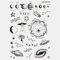 Halloween Face Temporary Tattoo Stickers Waterproof Sweatproof Breathable Art Body Fake Tattoo Transfer Paper - 15