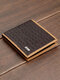 Men Business PU Leather Bag Multifunction Money Clips Card-slots Short Wallet - Coffee