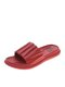 Women Home Summer Casual Comfy Non Slip Soft Lightweight Beach Slippers Bathroom Slippers - Red