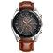 Business Style Men Wrist Watch Decorate Three Dials Leather Strap Quartz Watches - 02