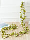 1PC 2.5m Artificial Flower Garland Ivy Autumn Small Peony Flowers Fake Simulation Plant Autumn Leaves Vine Home Wall Garden Wedding Arch Decor - #03
