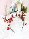 12 Pcs Accessoires De Cheveux De Noël Enfants Oreilles De Chat Mignon Bandeau De Coiffure Elk - #09