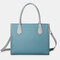 Women Patchwork Multifunction Multi-pocket 13.3 Inch Laptop Key Handbag Shoulder Bag - Blue1