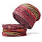 Womens Cotton Ponytail Beanie Hat Vintage Print Beanie Hats Outdoor For Both Hats And Scarf Use - #04