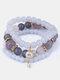 Vintage Multicolor Beautiful Opal Bracelet Temperament Multi-layer Tassel Bracelet - #13