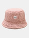 Women & Men Solid Color Casual Soft All-match Outdoor Bucket Hat - Pink