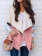 Solid Color Plush Lapel Sleeve Casual Jacket For Women - Pink