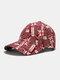 यूनिसेक्स कॉटन ब्रिटिश फ्लैग पैटर्न कैजुअल फैशन सनवीसर पीक कैप बेसबॉल टोपी - लाल