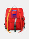 Men Women Patchwork Large Capacity  Streamer Package Tooling Backpack - Red