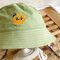 Detachable Face Screen Children's Sun Hat Windproof Transparent Fisherman Hat Dust Cap - Green
