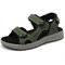 Large Size Men Hook Loop Non-slip Outdoor Casual Leather Sandals