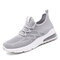 Women's Mesh Hollow Out Breathable Cushioned Casual Sneakers - Grey