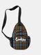 Casual Canvas Cool Letter Print Pattern Chest Bag Zipper Pocket Crossbody Bag - #09