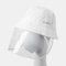 COLLROWN Detachable Sun Visor Fisherman Hat Anti-fog Cover Face - White
