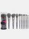 9 Pcs Makeup Brushes Set Beginners Eye Shadow Blush Concealer Makeup Tools With Brush Box - Gray