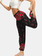 Floral Butterfly & Ethnic Print Pocket Yoga Bloomers Pants - #3