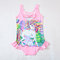 Unicorn Print Girls One Piece Swimsuit For 3-11Years