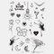 Halloween Face Temporary Tattoo Stickers Waterproof Sweatproof Breathable Art Body Fake Tattoo Transfer Paper - 10