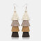 Bohemian Handmade Multi-layer Tassel Earrings Irregular Gradient Tassel Long Earrings - 7