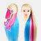 Multicolor Hairdressing Training Head Model Braided Disc Hair Salon Hairdresser Practice Mannequin - 04