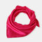 Square Plain Scarf Silk Headband Small Neckerchief Head Neck Lady Women Scarves - Rose