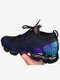 Women Brief Knitted Mesh Breathable Air Cushioned Walking Shoes - Dark Blue