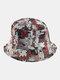 Women & Men Double-Sided Animals Panda Pattern Casual Cute Bucket Hat - Brown